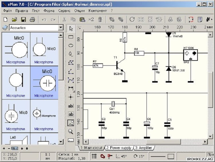 sPlan – удобный графический редактор для электрических схем