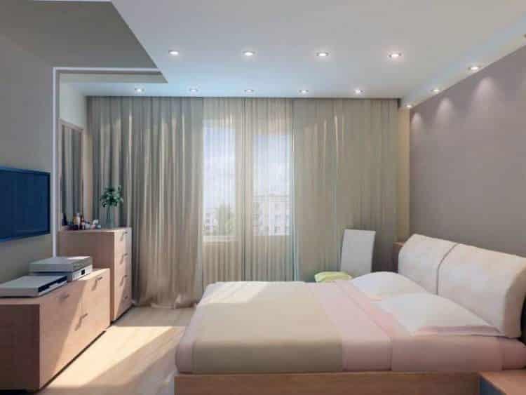 Свет в спальне должен быть умеренным