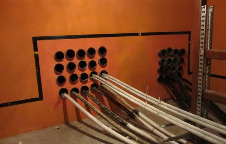 Обустройство блочной кабельной канализации
