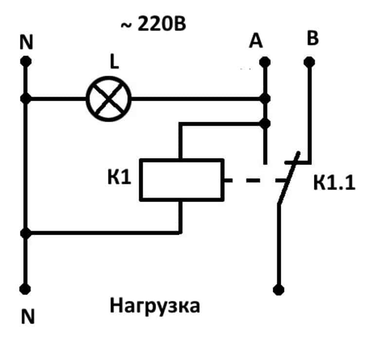 Простая схема однофазной АВР