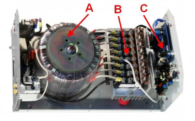 Устройство стабилизатора Vektor Energyна электронных ключах