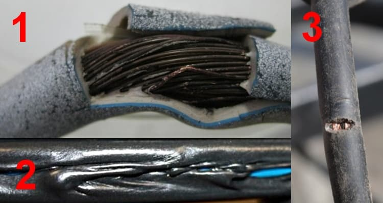 Причины повреждения изоляции кабеля скрытой проводки