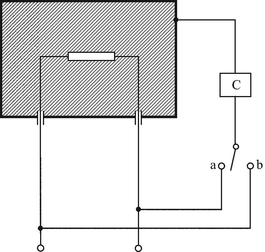 Принципиальная схема для измерения тока утечки для приборов иных, чем класса II