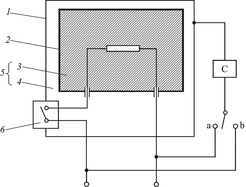 Принципиальная схема для измерения тока утечки приборов класса II