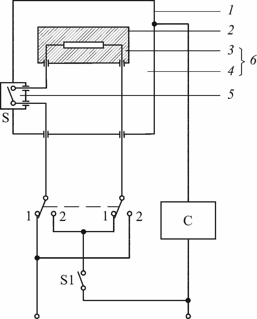Схема для измерения тока утечки для однофазного присоединения и трехфазных инструментов