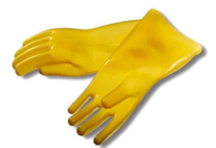 Бесшовные диэлектрические латексные перчатки