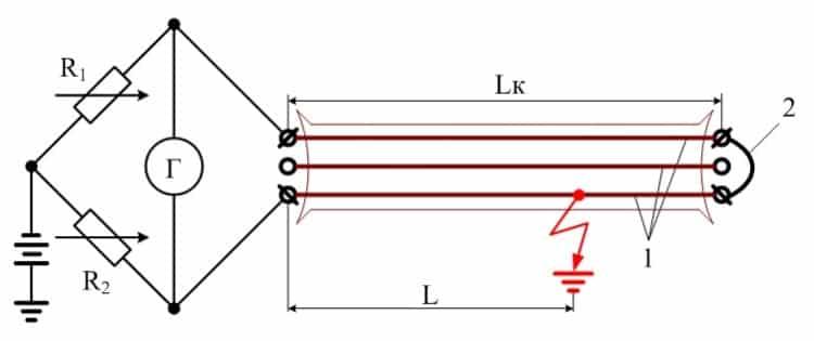 Устройство для поиска повреждения кабеля методом петли