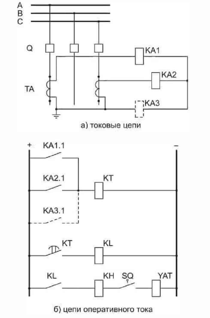 Схема на 2 реле