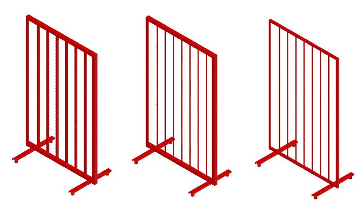 Металлические решётчатые щиты