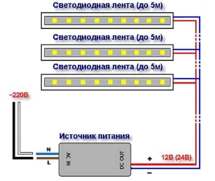соединение светодиодов