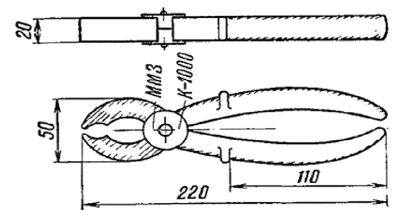 Пример клещей до 1000 В (КИ-1000)
