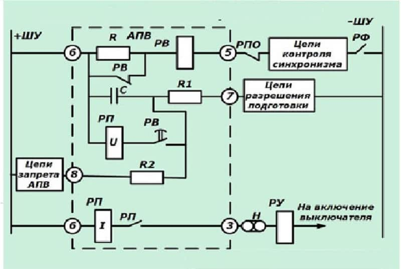 Принципиальная схема АПВ