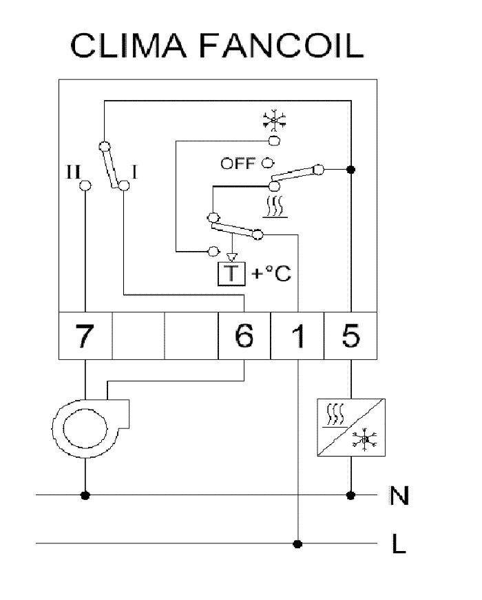 Принципиальная схема включения ORBIS FANCOIL