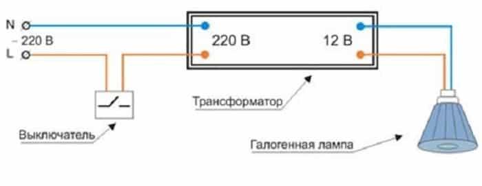 схема подключения лампы ДКБ-11