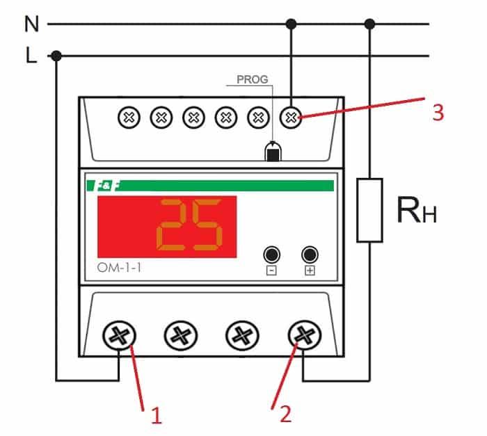 схема подключения ОМ – 1 – 1