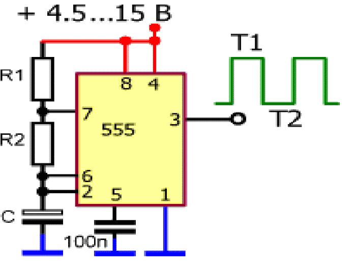 Схема 555 таймера