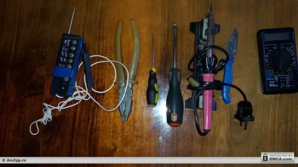 Инструменты и приборы для ремонта мультиварки