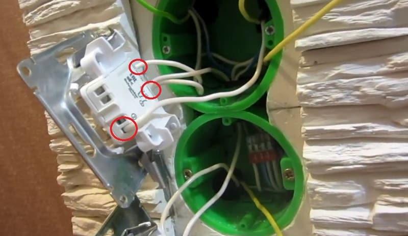 Подключение розеток и выключателей