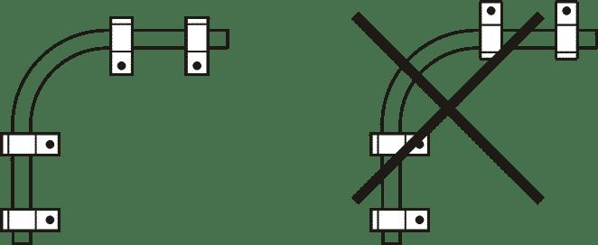 Схема расположения элементов крепления однолапковых