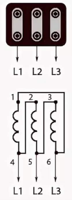 Схема соединения треугольник