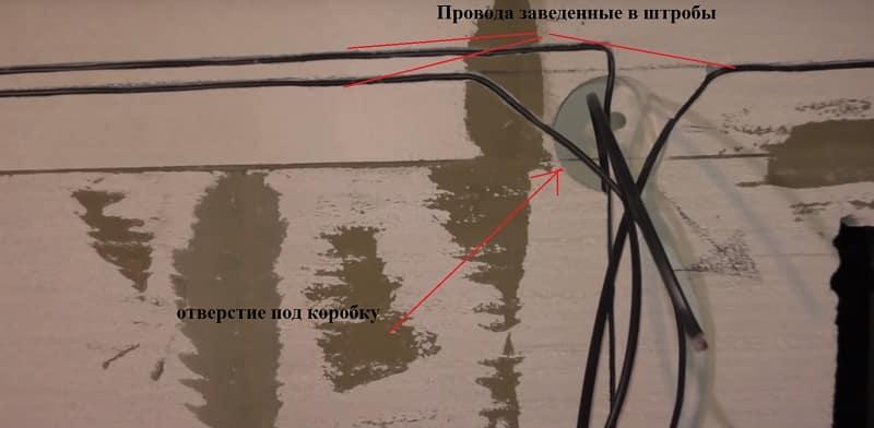 Укладка провода в штробы