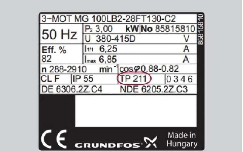 маркировка для зарубежного двигателя