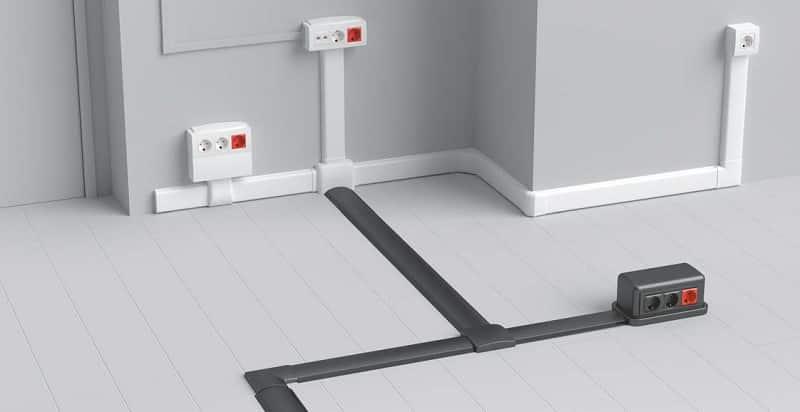 Пример использования напольных и плинтусных кабель-каналов