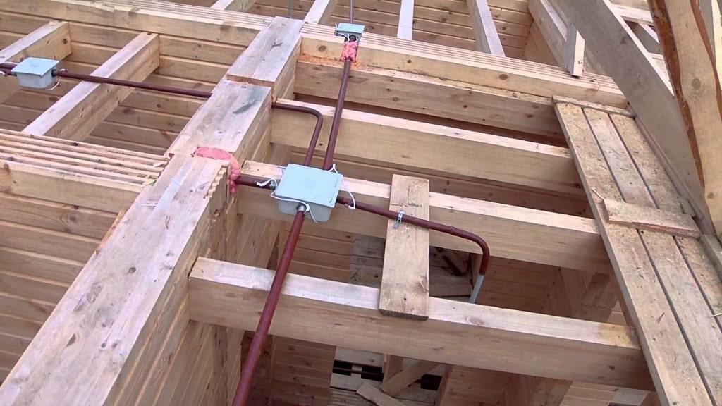 Пример установки распаечной коробки