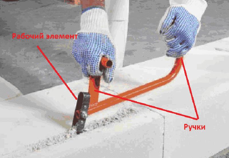 Пример ручного штробореза