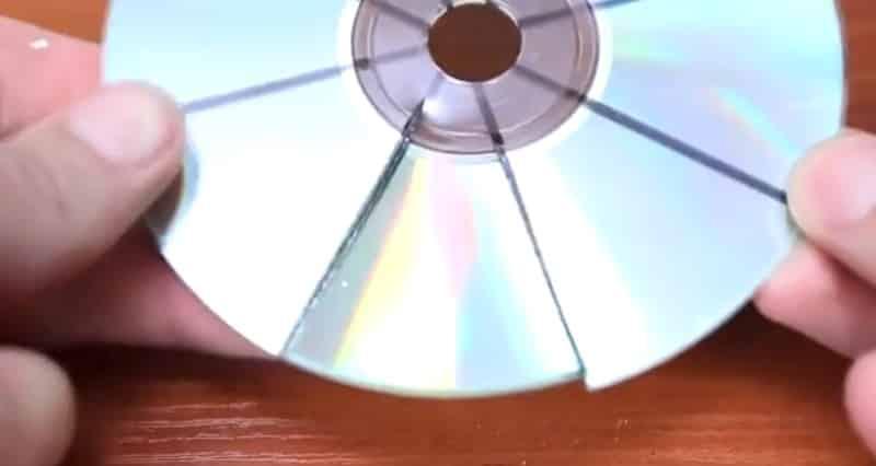 Разрежьте CD диск