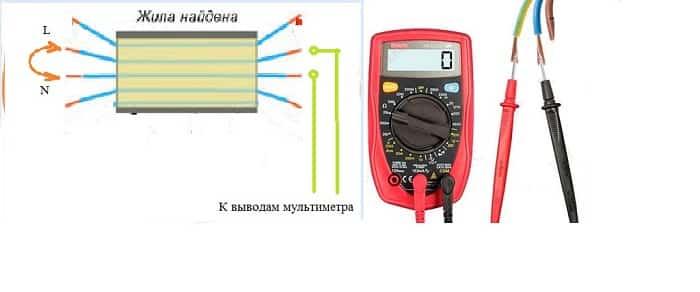 схема прозвонки кабеля