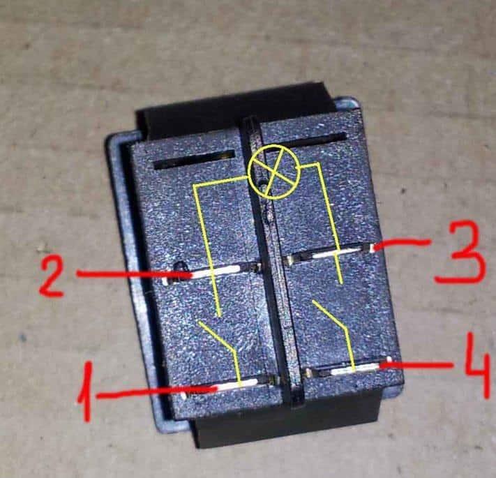 Схема подключения переключателя