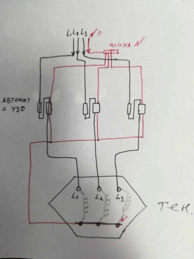 Схема: автомат с узо