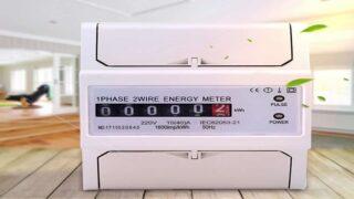 Лицевая панель бытового счетчика электроэнергии с оптическим индикатором