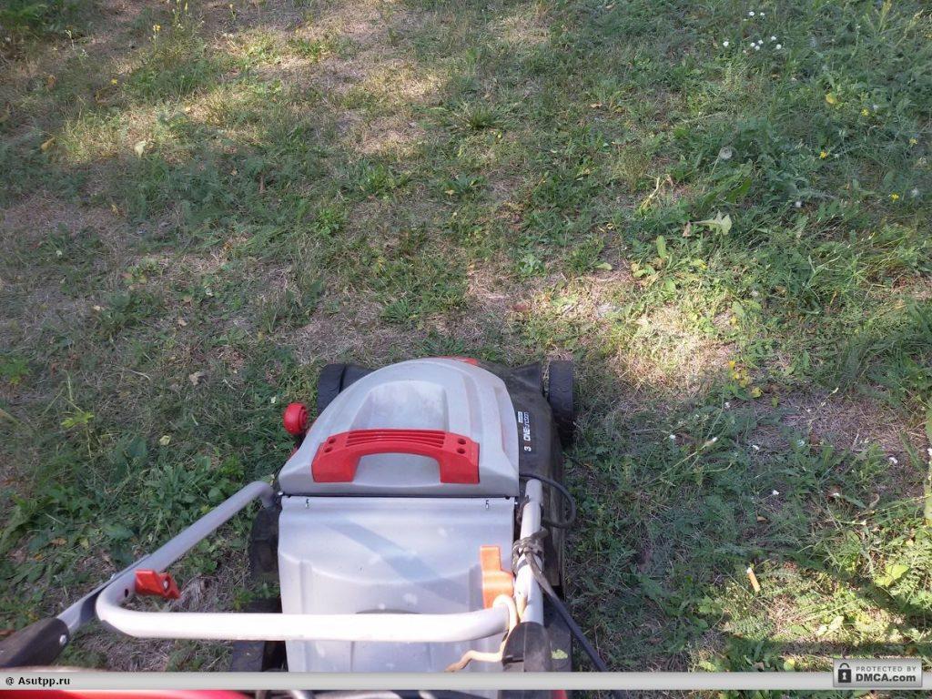 Исправная газонокосилка