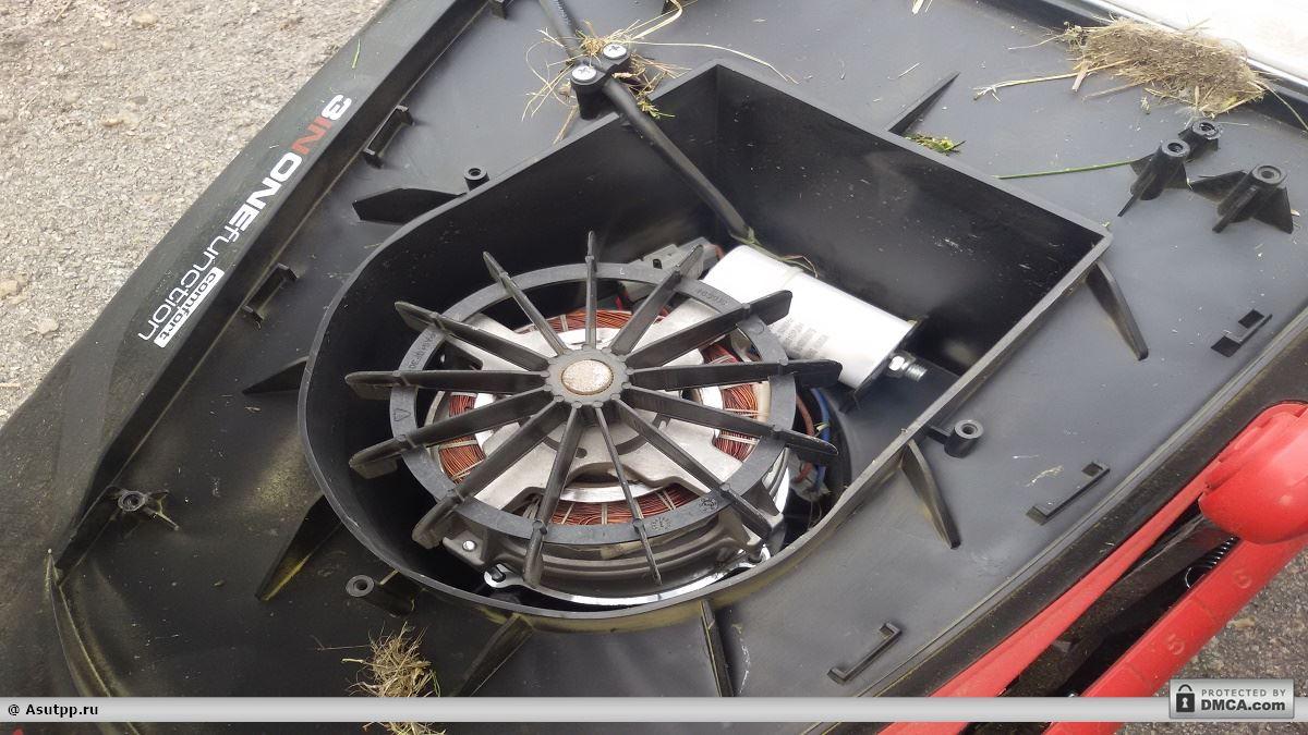 Крыльчатка, конденсатор, два разъема и сам мотор