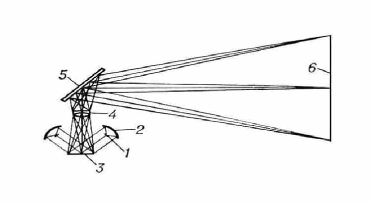 Принципиальная схема эпипроектора