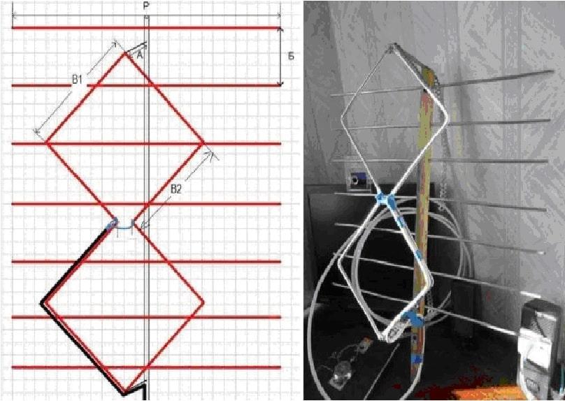 Схема и практическая реализация антенны Харченко