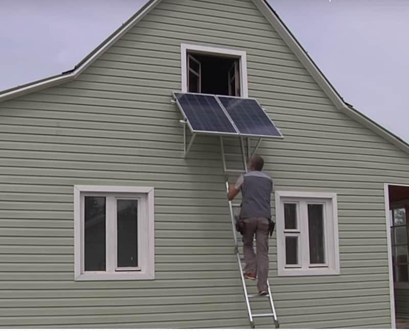 Солнечная батарея на стенах зданий