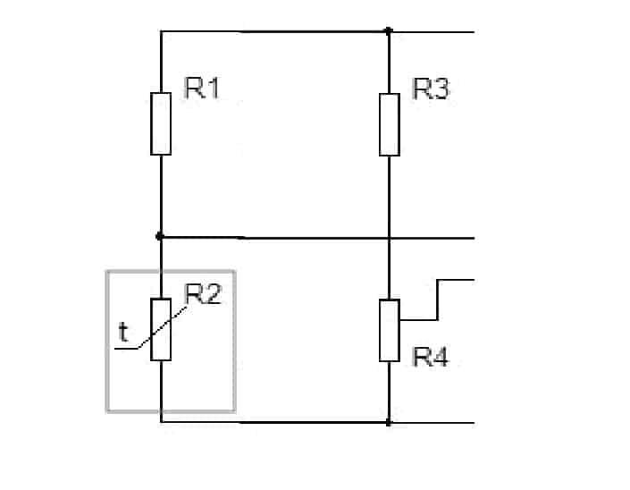 Датчик из полуплеча резисторов