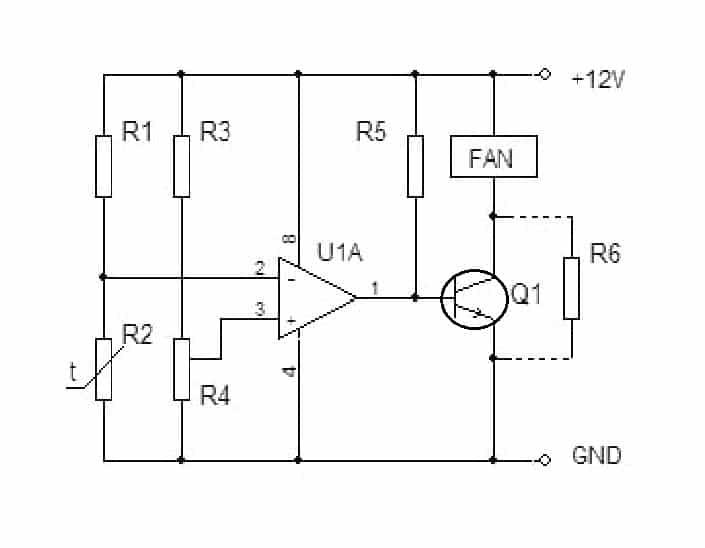 Принципиальная схема терморегулятора