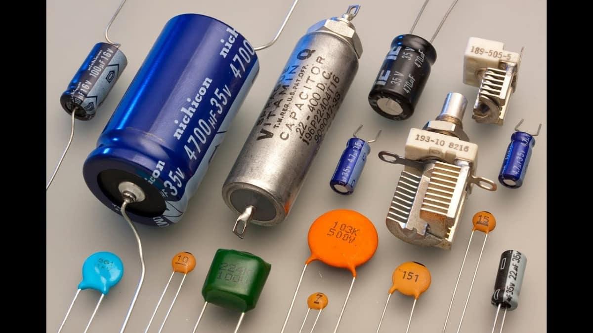 Распространённые типы конденсаторов