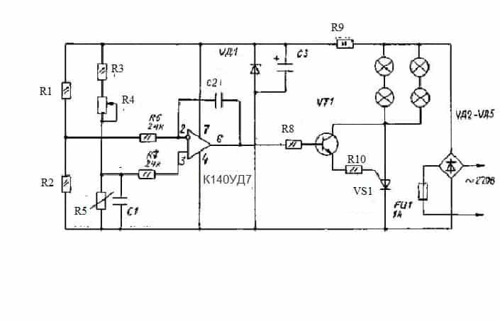 Схема терморегулятора №2