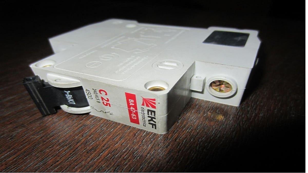 Автоматический выключатель на 25 ампер