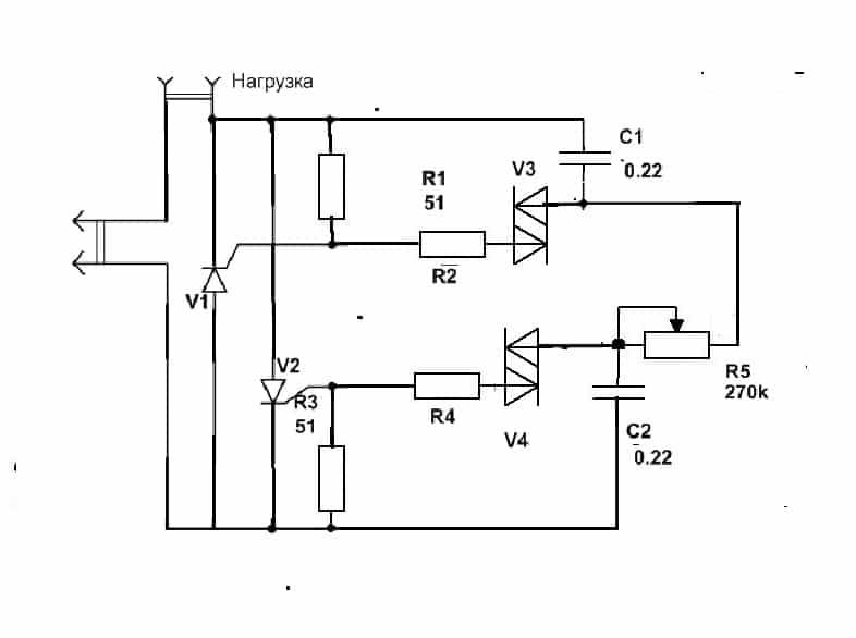 Схема регулятора на транзисторах