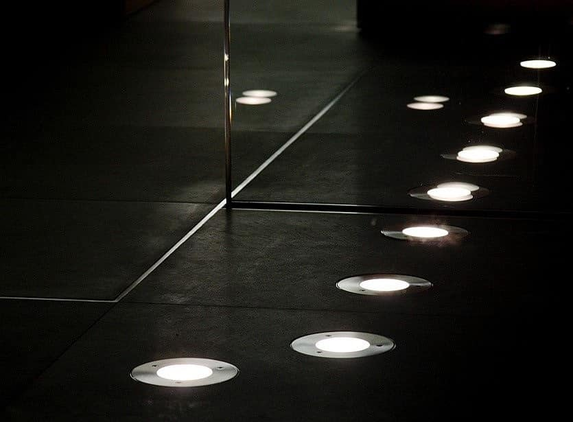 Точечные светильники для пола