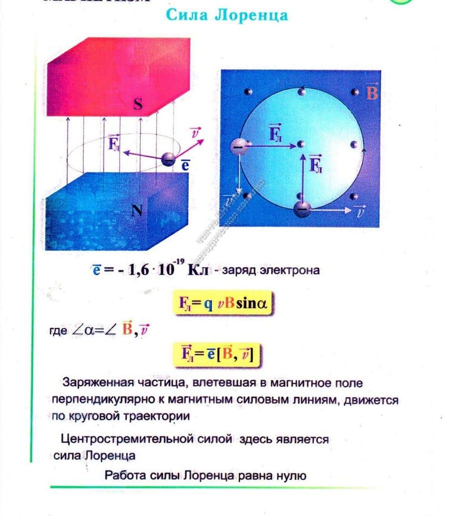 Заряженная частица между полюсами магнитов
