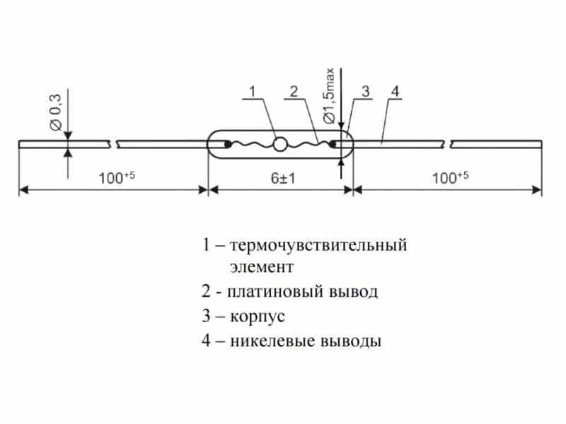 Конструкция простого термистора