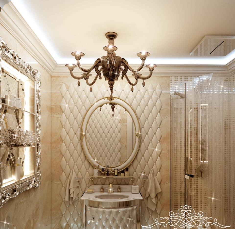 Люстры в ванной