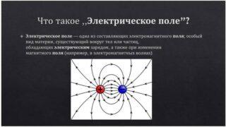 """Определение понятия """"электрическое поле"""""""